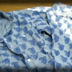 エターナル カディブロックプリントシャツ