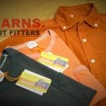 BARNS ヴィンテージ ラグランクルーTシャツ,小衿40'sブロードB.Dシャツ