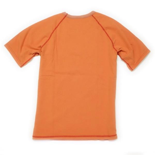 BARNS ヴィンテージ ラグランクルーTシャツ(レッド)