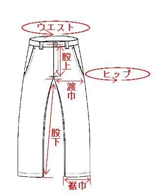 パンツ類のサイズ計測